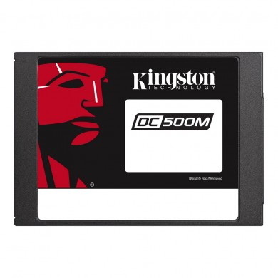 """2.5"""" SSD 960GB  Kingston DC500M Data Center Enterprise, SATAIII, Mixed-Use, 24/7, SED, PLP, Sequential Reads:555 MB/s, Sequential Writes:520 MB/s, Steady-state 4k: Read: 98,000 IOPS / Write: 70,000 IOPS, 7mm, Phison PS3112-S12DC, 3D NAND TLC"""
