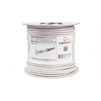 Cable FTP Gembird FPC-5004E-SOL, AWG24 solid CCA , 305m