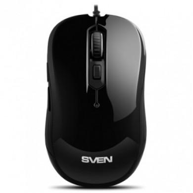 SVEN RX-520S, Optical Mouse, Antistress Silent 3200 dpi, USB, Black