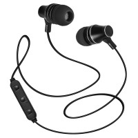 SVEN E-255B, Bluetooth Earphones with microphone, 20-20000 Hz, 32ohm, 0,8m, Call acceptance/Pause button, Black