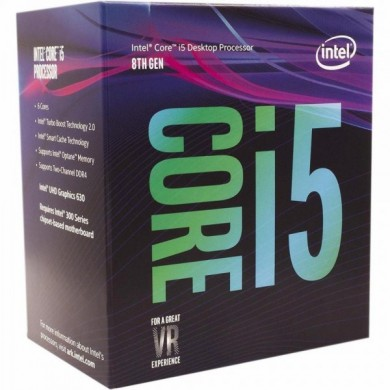 Intel® Core™ i5-9400, S1151, 2.9-4.1GHz (6C/6T), 9MB Cache, Intel® UHD Graphics 630, 14nm 65W, Box