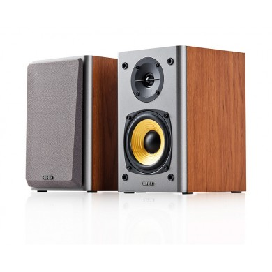 "Edifier R1000T4 Brown, 2.0/ 24W (2x12W) RMS,  Audio in: 2x RCA, wooden, (4""+1/2"")"