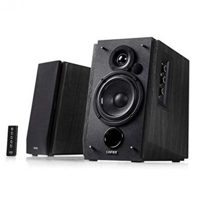 "Edifier R1700BT Black (Bluetooth) Wood, 2.0/ 66W (2x33W) RMS,  Audio in: Bluetooth & 2 analog (RCA), remote control, wooden, (4""+3/4"")"