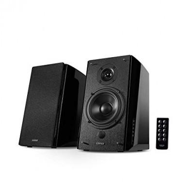 "Edifier R2000DB Black, 2.0/ 120W (2x36W+2x24W) RMS, Audio In: Bluetooth, RCA x2, PC, AUX, optical, coaxial, remote control, all wooden, (5""+1"")"