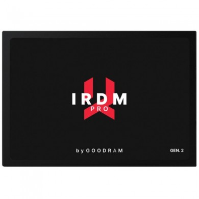 """2.5"""" SSD 1.0TB  GOODRAM IRDM PRO GEN.2, SATAIII, Sequential Reads: 555 MB/s, Sequential Writes: 535 MB/s, Maximum Random 4k: Read: 92,000 IOPS / Write: 86,000 IOPS, Thickness- 7mm, Controller 8Channel Phison PS3112-S12, DRAM DDR3L cache, 3D NAND TLC"""