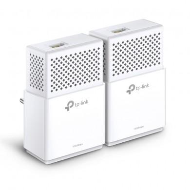 TP-LINK  TL-PA7010 Kit, AV1000 Powerline Adapter Starter Kit, Compact Size, 1000Mbps Powerline Datarate, 2 Gigabit LAN Port, HomePlug AV2, Green Powerline,  Plug and Play, Pair Button, Range 300 meters in house