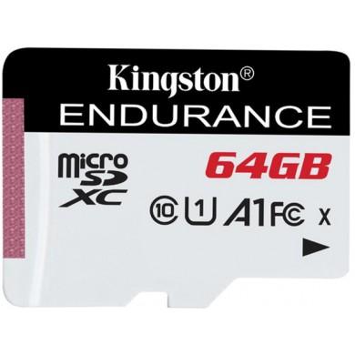64GB microSD Class10 A1 UHS-I FC  Kingston High Endurance, 600x, Up to: 95MB/s, High performance, Seamless recording
