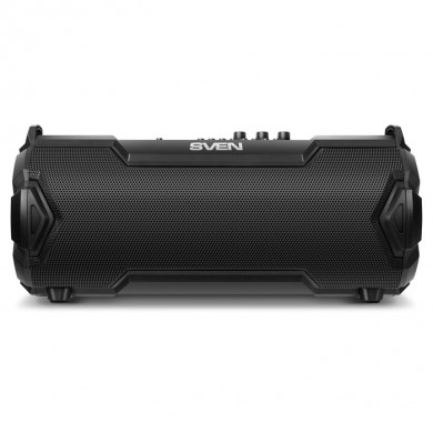 SVEN PS-475 Black, Bluetooth Portable Speaker, 30W RMS, Support for iPad & smartphone, Bluetooth, LED display, FM tuner, USB & microSD, built-in lithium battery -2000 mAh, tracks control, AUX stereo input, Headset mode, USB or 5V DC power supply