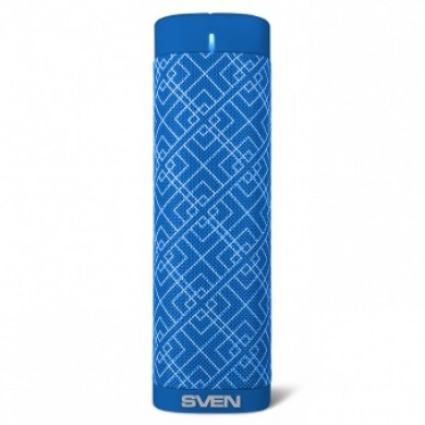 SVEN PS-115, Bluetooth Portable Speaker, 10W RMS, Support for iPad & smartphone, Bluetooth, LED display, clock and alarm, FM tuner, USB & microSD, built-in lithium battery -1800 mAh, AUX stereo input, Headset mode, USB or 5V DC power supply, Blue
