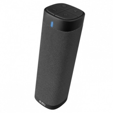 SVEN PS-115, Bluetooth Portable Speaker, 10W RMS, Support for iPad & smartphone, Bluetooth, LED display, clock and alarm, FM tuner, USB & microSD, built-in lithium battery -1800 mAh, AUX stereo input, Headset mode, USB or 5V DC power supply, Black
