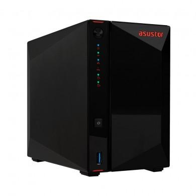 "2-bay NAS Server  ASUSTOR ""AS5202T"", Intel Celeron J4005 (Dual-Core) 2.0-2.7GHz, 2GB SO-DDR4(Max.8GB), 2.5""/3.5""SATA or SSD x2 (Hot Swap), USB3.2 Gen1 x3, 2.5GbE LAN x2, HDMI2.0a, WOW, WOL,  AES-NI, Hard. transcoding, IR, Surveillance: <36 (4 Free)"