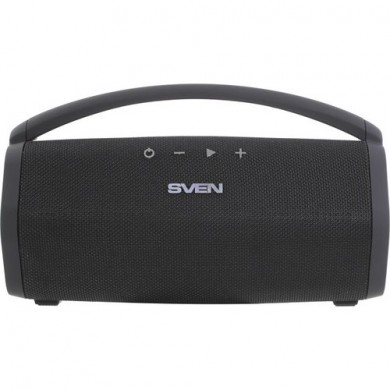 SVEN PS-320 Black, Bluetooth Portable Speaker, 15W RMS, Waterproof (IPx7) Support for iPad & smartphone, USB & microSD, built-in lithium battery -2200 mAh, ability to control the tracks, AUX stereo input