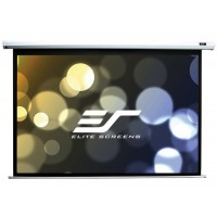 "Elite Screens 99""(1:1) 178x178cm VMAX2 Series Electric Screen with IR/Low Voltage 3-way wall box, TopDrop 7cm, White"