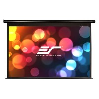 "Elite Screens 113""(1:1) 203x203cm VMAX2 Series Electric Screen with IR/Low Voltage 3-way wall box, TopDrop 7cm, White"