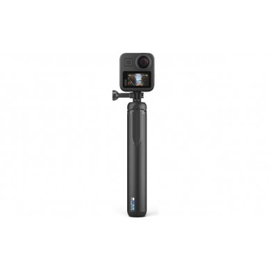 GoPro Max Grip + Tripod - for capturing 360 footage without the grip in your shot. Use it as a camera grip, extension pole or quick-deploy tripod. Compatible with all GoPro cameras.