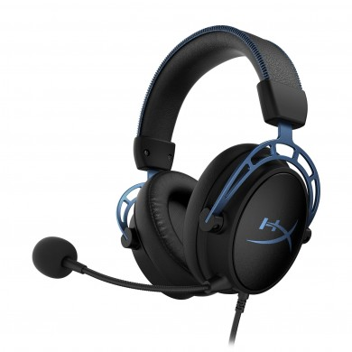 Headset  HyperX Cloud Alpha S, Black/Blue, Solid aluminium build, Microphone: detachable, Frequency response: 13Hz–27,000 Hz, Detachable headset braided cable length:1m+2m extension, Dual Chamber Drivers, 3.5 jack, Virtual 7.1 surround sound