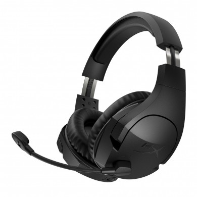 Wireless headset  HyperX Cloud Stinger Wireless, Black, 90-degree rotating ear cups, Mic built-in, Swivel-to-mute mic, Frequency response: 20Hz–20000 Hz, USB, 2.4GHz Wireless Connection, maximum 500mW, PS4/PC, Up to 20 meters