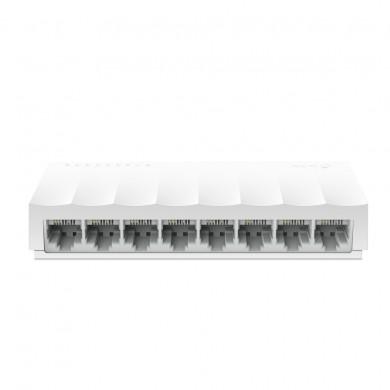 TP-LINK LS1008  8-port Desktop Switch, 8 10/100M RJ45 ports, Plastic case, LiteWave, Green Technology