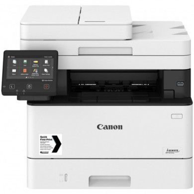 MFD Canon i-Sensys MF443DW, Mono Printer/DADF/Duplex/Scanner/,Net,WiFi, A4, 1200x1200 dpi, 38ppm, Up to 80k ,1Gb, Scan 9600x9600dpi-24 bit, 12.7 cm LCD,Paper Input  250-sheet tray, 100-sheet tray, USB 2.0,  Cartridge 057/057H (3100/10000 pages* 5%)