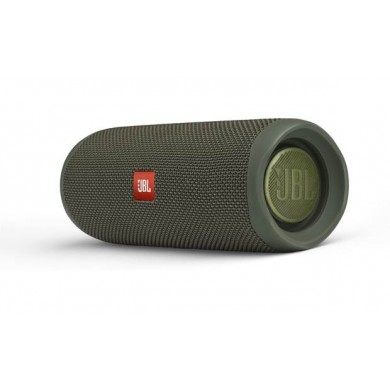 JBL Flip 5 Green / Bluetooth Portable Speaker, 20W RMS, BT Type 4.2, Frequency response: 70Hz – 20kHz, IPX7 Waterproof, Speakerphone, 4800mAh rechargeable Li-ion battery, JBL Connect, JBL PartyBoost,  Power Supply: 5V / 1A, Battery life (up to) 12 hr