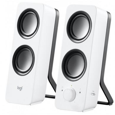 Logitech Z200 Speakers 2.0 ( RMS 5W, 2x2.5W), Stereo headphone jack, White