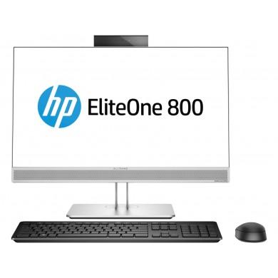"All-in-One PC - 23.8"" HP EliteOne 800 G5 FullHD IPS (Intel® Core® i5-9500, 8GB DDR4 RAM, 256Gb PCIe NVMe , DVD-RW, CR, Intel® UHD 630 Graphics, FHD Cam, Intel® Wi-Fi 6 AX200+BT5, Audio Bang&Olufsen, Wireless Slim KB+MS, Silver/Black,  Win10Pro)"