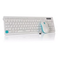 "MARVO ""DP0001WE"", Wireless Keyboard & Mouse Combo,  White-Blue"