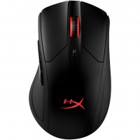 HYPERX Pulsefire Dart Wireless Gaming Mouse, up to 16000 DPI, 4 DPI presets, PMW3389 sensor, RGB Logo, Omron switches, Qi Wireless charging,  Easy customisation with HyperX NGenuity software, Detachable charging/data cable, 150g