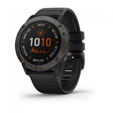 """Garmin fenix 6X Pro Solar Titanium, Multisport GPS Watch for Sport, 1.4"""", Water rating 10ATM, 32GB, GPS, Compass, Bluetooth, Smart, ANT+, Wifi, Smart notifications and Activity Tracking Features, Battery up to 80 days, 82g"""