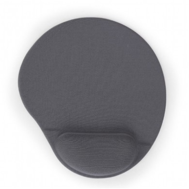 Gembird MP-GEL-GR, Gel mouse pad with wrist support, grey