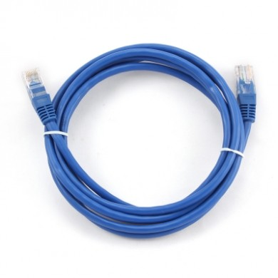"Patch cord cat. 5E PP12-3M/B, 3 m - blue, molded strain relief 50u"" plugs"