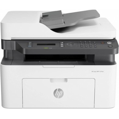 """MFD HP LaserJet Pro 137fnw, White, A4, Fax up to 20ppm, 128 MB, 40-sheets ADF, 2,7"""" touch LCD, 600dpi, up to 10000 pages, PCLmS, URF, PWG, HP ePrint, Hi-Speed USB 2.0, Fast Ethernet 10/100Base-TX, Wi-Fi 802.11b/g/n, (W1106A)HP 106A"""