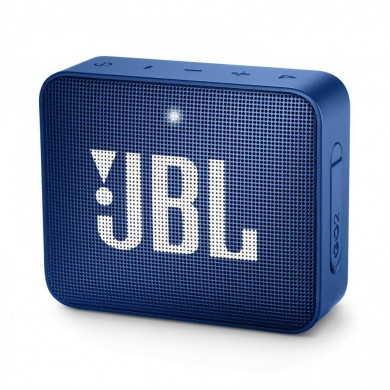 JBL Go 2 Blue / Bluetooth Portable Speaker, 3W (1x3W) RMS, BT Type 4.1, Frequency response: 180Hz – 20kHz, IPX7 Waterproof, Speakerphone, 730mAh rechargeable Lithium-ion battery,  3.5 mm jack audio input, Battery life (up to) 5 hr
