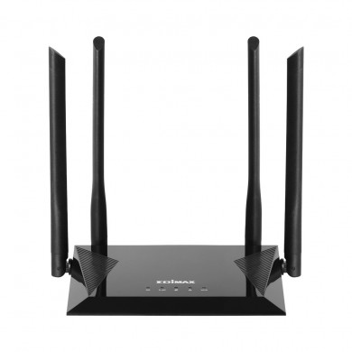 EDIMAX BR-6476AC  AC1200 Wi-Fi 5 Dual-Band Router, 4-in-1 Mode: Router, Access Point, Wi-Fi Extender, WISP, 866Mbps 5GHz + 300Mbps 2.4GHz, 802.11a/b/g/n/ac,1 WAN+4 LAN, Multi-SSID, Guest Network, Smart iQ Setup, 4 High Gain Antennas