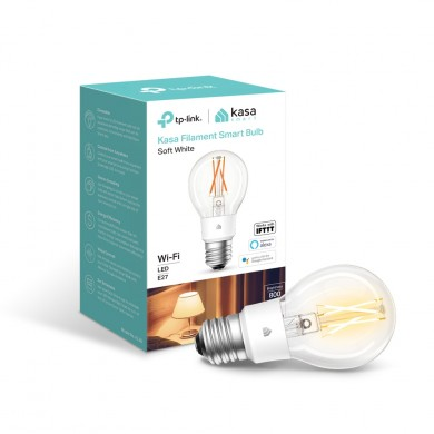 TP-LINK KL50, Kasa Filament Smart Bulb, Soft White, Smart and Stylish, Dimmable, Color Temperature 2700K, Rated power 7W, 800 lumens, 15000 hours, Beam angle 290°, Set Schedules, Remote control via Wifi, Adjust brightness
