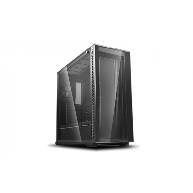 "DEEPCOOL ""MATREXX 70"" ATX Case, with Side-Window, Tempered Glass Side & Front panel, without PSU, Tool-less, 1x120mm fans pre-installed, 2xUSB3.0, 1xUSB2.0 /Audio, Black"