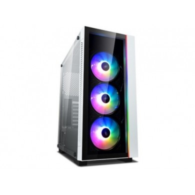 "DEEPCOOL ""MATREXX 55 V3 ADD-RGB WH 3F"" ATX Case, with Side-Window, Dual 4mm Tempered Glass Side & Front panel, without PSU, Tool-less, 3x120mm ADD-RGB fans pre-installed, 1xUSB3.0, 2xUSB2.0 /Audio,1xRGB Button, White"