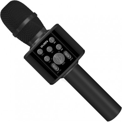 SVEN MK-960, Microphone for karaoke, black (6W, Bluetooth, microSD, 1200mA*h)