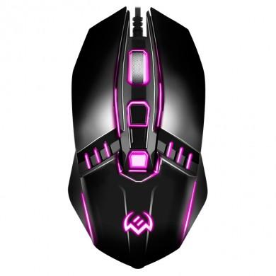 SVEN RX-200, Optical Mouse, Backlighting, 800-1600 dpi, 3+1 Button, 1,5m ,USB, Black