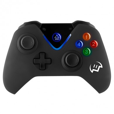 SVEN GC-5070 Wireless Gamepad, Windows, Android, PS3, 2 mini joysticks and 11 buttons, USB, Black