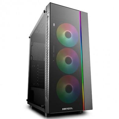 Carcasa DEEPCOOL MATREXX 55 V3 ADD-RGB / w/oPSU / Side panel / RGB lighting strip / ATX / Black