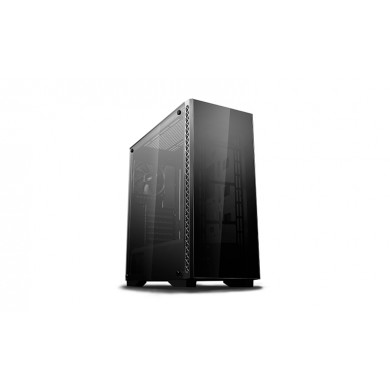 "DEEPCOOL ""MATREXX 50"" ATX Case, with Side-Window Tempered Glass Side & Front panel, without PSU, Tool-less, 1x120mm fans pre-installed, 1xUSB3.0, 2xUSB2.0 /Audio, Black"