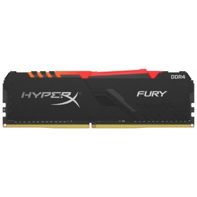 16GB DDR4-3733  Kingston HyperX® FURY DDR4 RGB, PC29800, CL19, 1.35V, Auto-overclocking, Asymmetric BLACK heat spreader, Dynamic RGB effects featuring HyperX Infrared Sync technology, Intel XMP Ready (Extreme Memory Profiles)