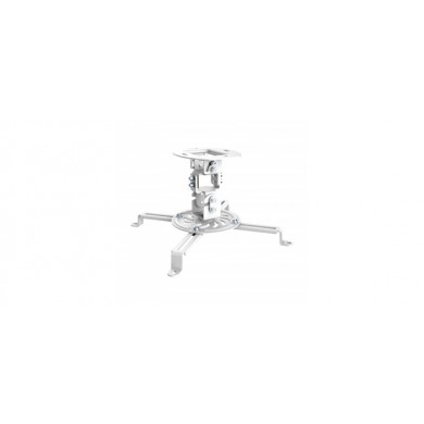 PureMounts PM-SPIDER-10W Suspension Bracket for Projector, Ceiling to Projector 150mm, tilt:+/- 15°, swivel:15°, rotade: 360°, max 13.5kg, White