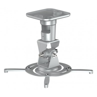 PureMounts PM-SPIDER-PLUS-S Suspension Bracket for Projector, Ceiling to Projector 225mm, tilt: +/- 180°, swivel:180°, rotade: 360°, max 15kg, Silver