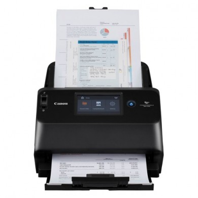 "Document Scanner Canon DR-S150, WiFi, ADF (60 sheets - 50-80g/m2), CIS 1 Line Sensor, 4.3"" LCD Front/ Back/ Duplex, B&W 45ppm/90ipm - colour 45ppm/90ipm, 600x600dpi, 24-bit colour, Daily Duty Cycle: 4000 scans/day, USB 3.2 Gen1x1/USB 2.0, Gb LAN"