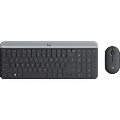 Logitech Wireless Combo MK470 Slim, Keyboard + Mouse, 2.4GHz nano USB receiver, Graphite