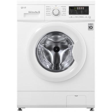 Washer* LG F80B8LD6, White, Max load - 5kg, Max speed - 800rpm, 85x60x44cm, Depth - 44cm, Direct Drive, SmartDiagnosis, Download Type - front, Class - A/A/C, Display, 13 programm