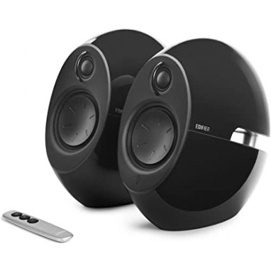 "Edifier E25HD Black, 2.0/ 74W (2x37W) RMS, Audio in: Bluetooth 4.0, auxiliary, optical, remote control, satl.(3""+3/4"")"