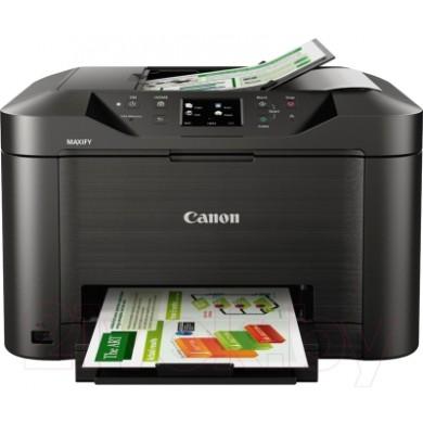 MFD Canon MAXIFY MB5140, Colour Print/Scan/Copier/FAX, DADF(50-sheet),USB Reader,Wi-Fi+Cloud Link,A4,Print 600x1200dpi_2pl,Scan1200x1200dpi,ESAT 24.0/15.5ipm,64-275г/м2,Max.20k p/month,Paper Input: 250sheets,4-ink tanks PGI-2400/2400XLBK,C,M,Y